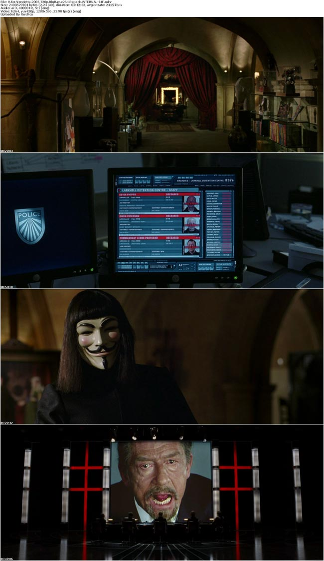 V for Vendetta 2005 720p BluRay x264 Repack iNTERNAL-J4F